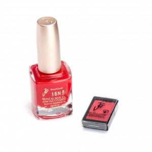 Nagellak 16N en oogschaduw 466 color participation Rood