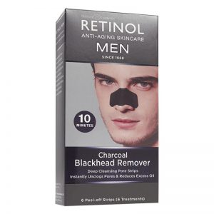 Retinol - Men Charcoal Black Head Remover 6 pcs
